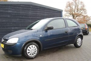 Opel Corsa 2002 hatchback blauw