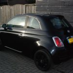 Fiat 500 2008 zwart witte strepen